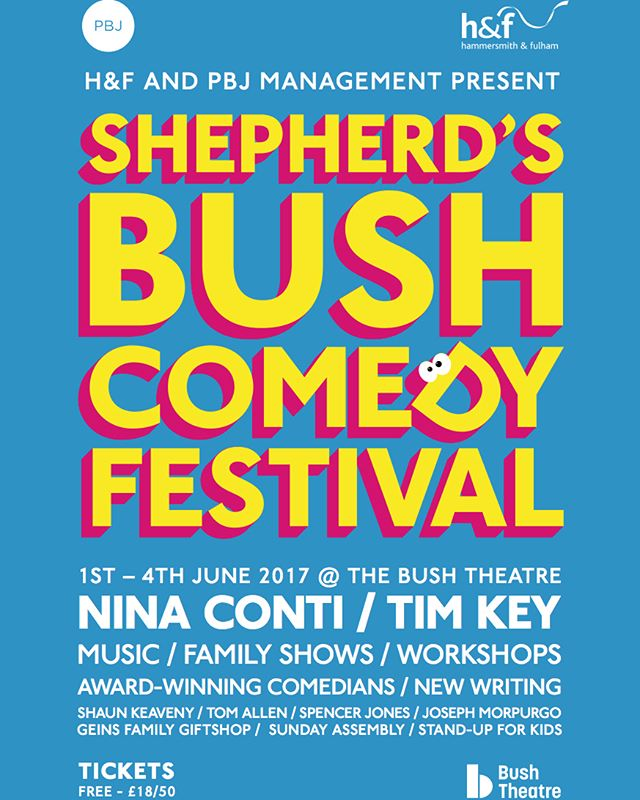 Branding & Poster Design for Shepherds Bush Comedy Festival :)