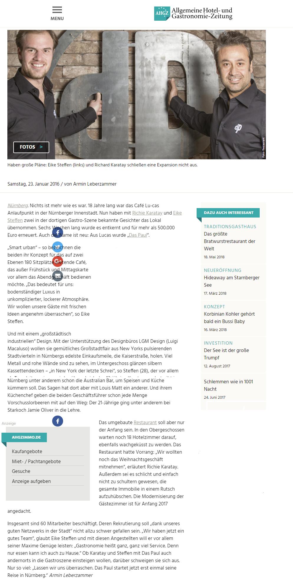 dasPaul Pressemitteilung AHGZ