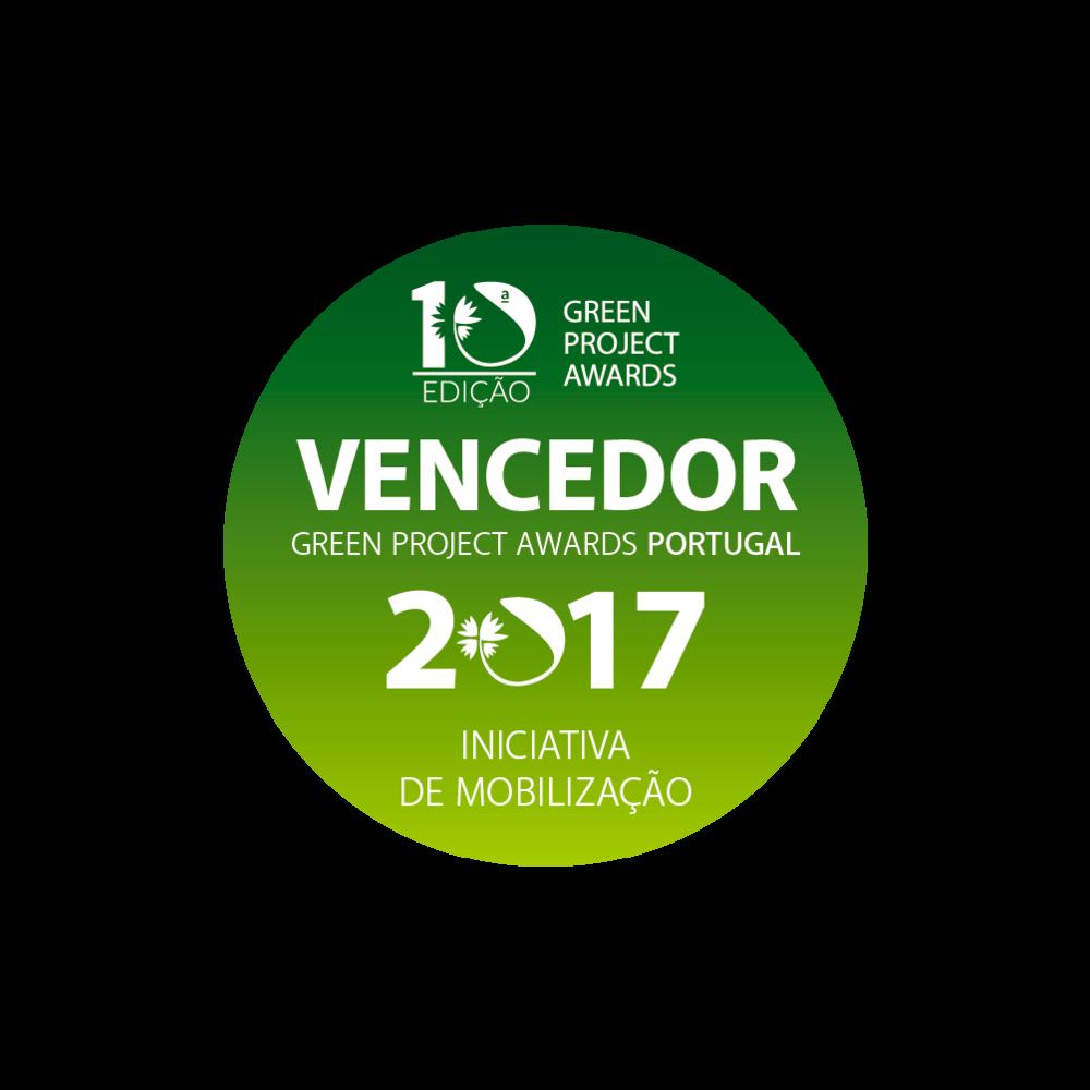 """Campanha """"Mariscar SEM Lixo"""" vencedora da iniciativa de mobilização na 10ª edição dos  Green Project Awards  2017."""