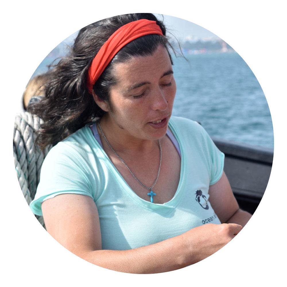 Cláudia Martins  Pescadora, Possanco. Compromisso voluntário na promoção de boas práticas.