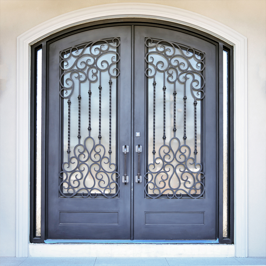 Melbourne wrought iron door