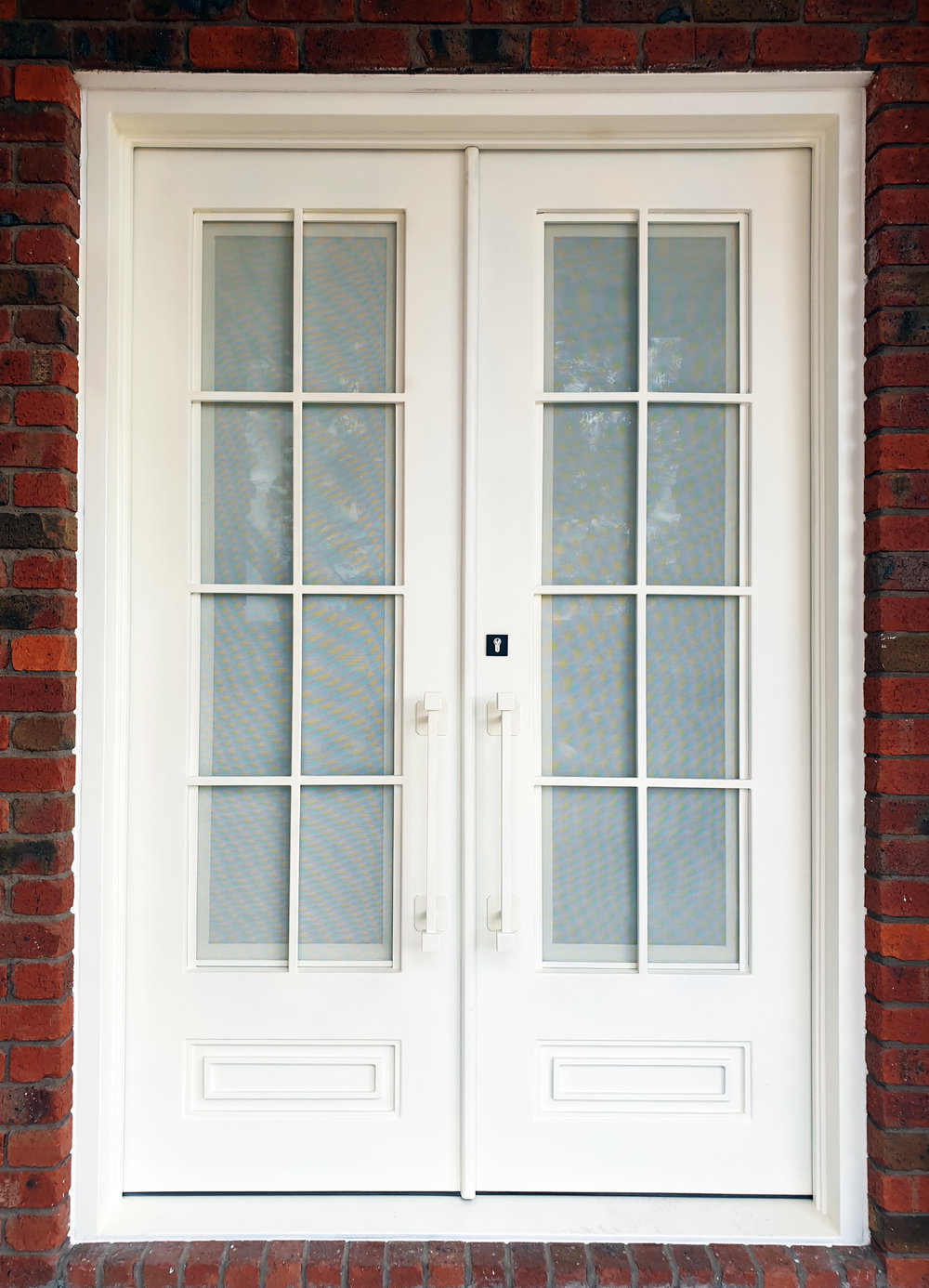 white wrought iron door!