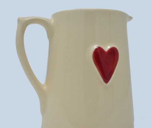fcb84c96d07 Hand Painted Heart Ceramic Jug