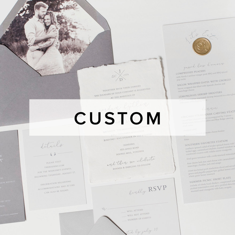 Custom Stationery Wedding Invitations And Unique Paper Goods Riot