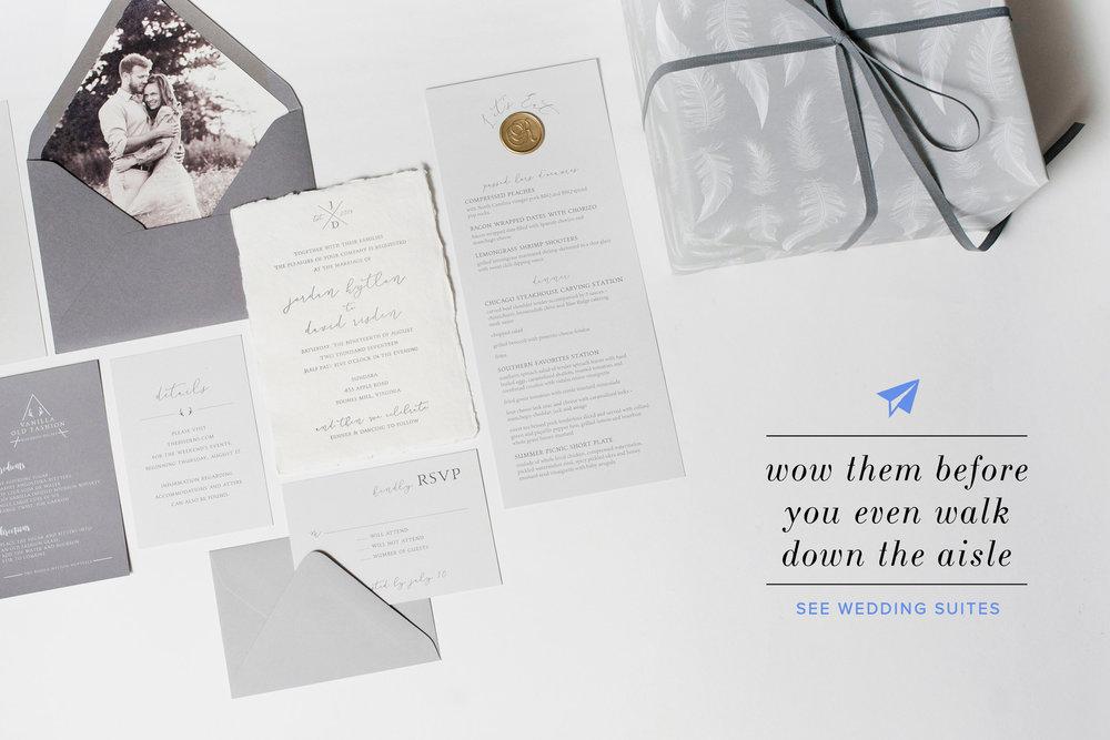 Modern Custom Wedding Invites For Your Big Day!