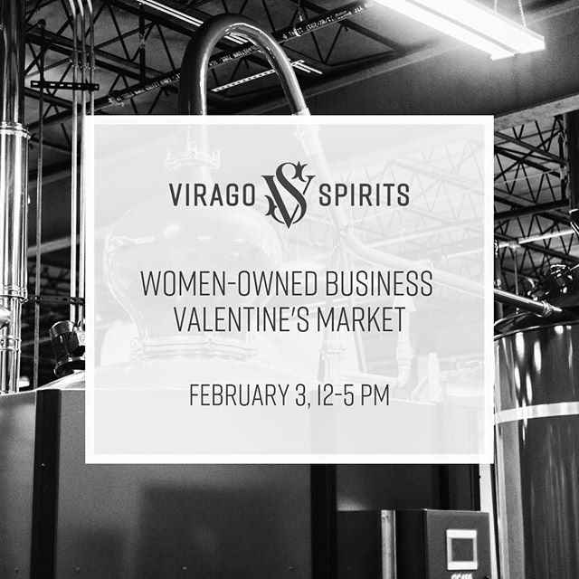 Join me and other women-owned makers tomorrow @ Virago Spirits from 12-5pm! Tap to see who you can get all the Valentine's goodies from:) ❤️
