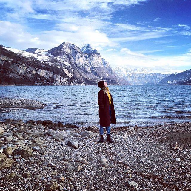 🌊🌊#frischiluft @kabarts #beautifulview#switzerland#nature#walensee#weesen#lake#sunshine @amden_weesen @visitswitzerland