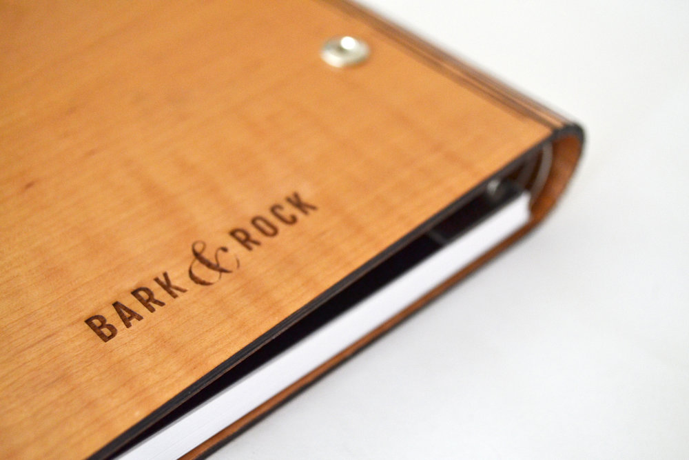 Flexible Hinge Wood Notebook