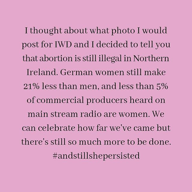 Just this. . . . . . . . . #femalemusician #internationalwomensday #feminist #equality
