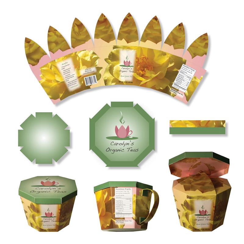 Carolyn's Organic Teas Box Design