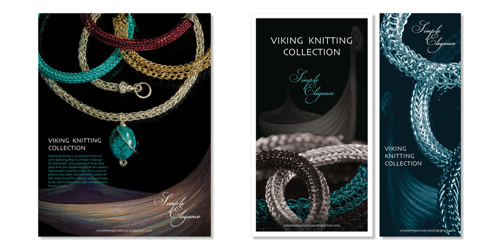 Viking Knitting Jewelry Ads