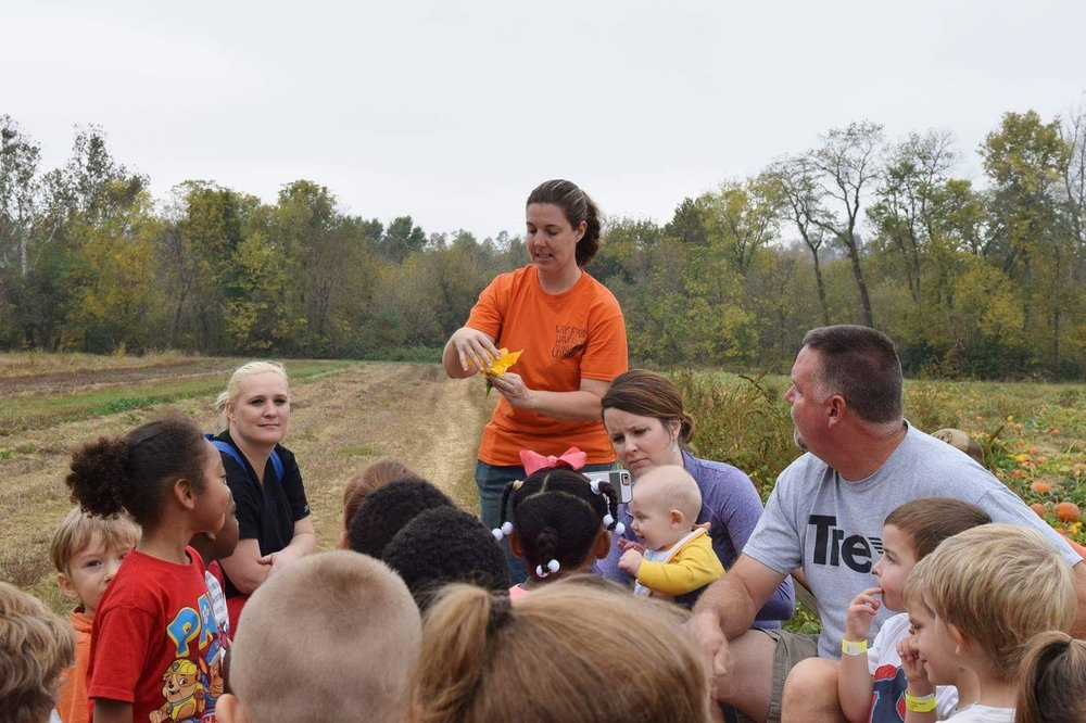 Mandy Way offers an educational program about how pumpkins grow.