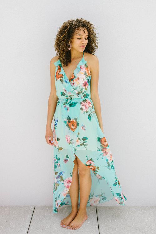 24581c51616 Lavender Brown Aqua Multi Maxi Dress AOA 1121 ...