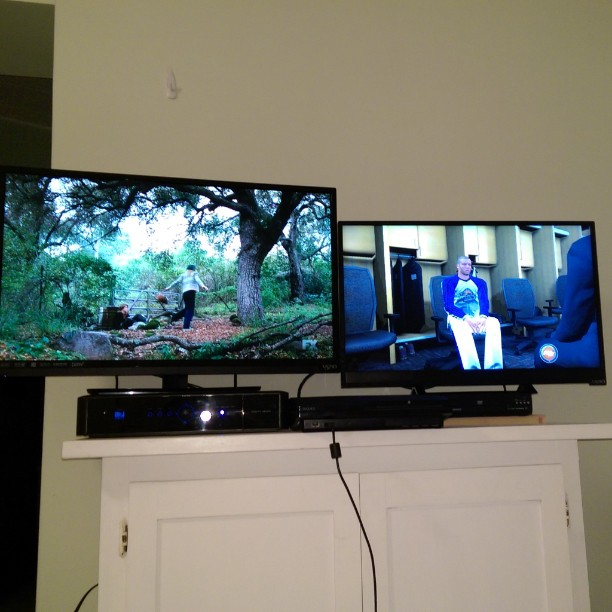 Man Cave is setup at the beach house