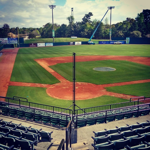 Our jobsite for the day, its not hard enjoying this #instagood #baybears #hankaaronstadium #cityofmobile