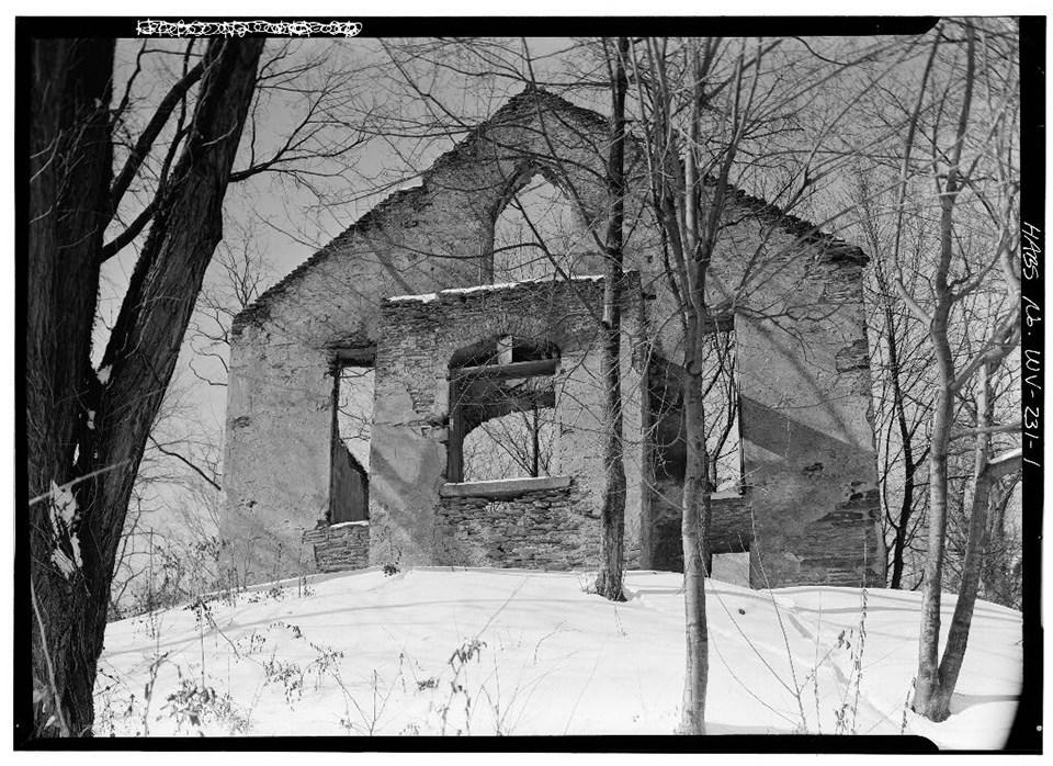 St. John's Episcopal Church Ruins in 1961, Photo Credit: Jack E. Boucher, January 1961.