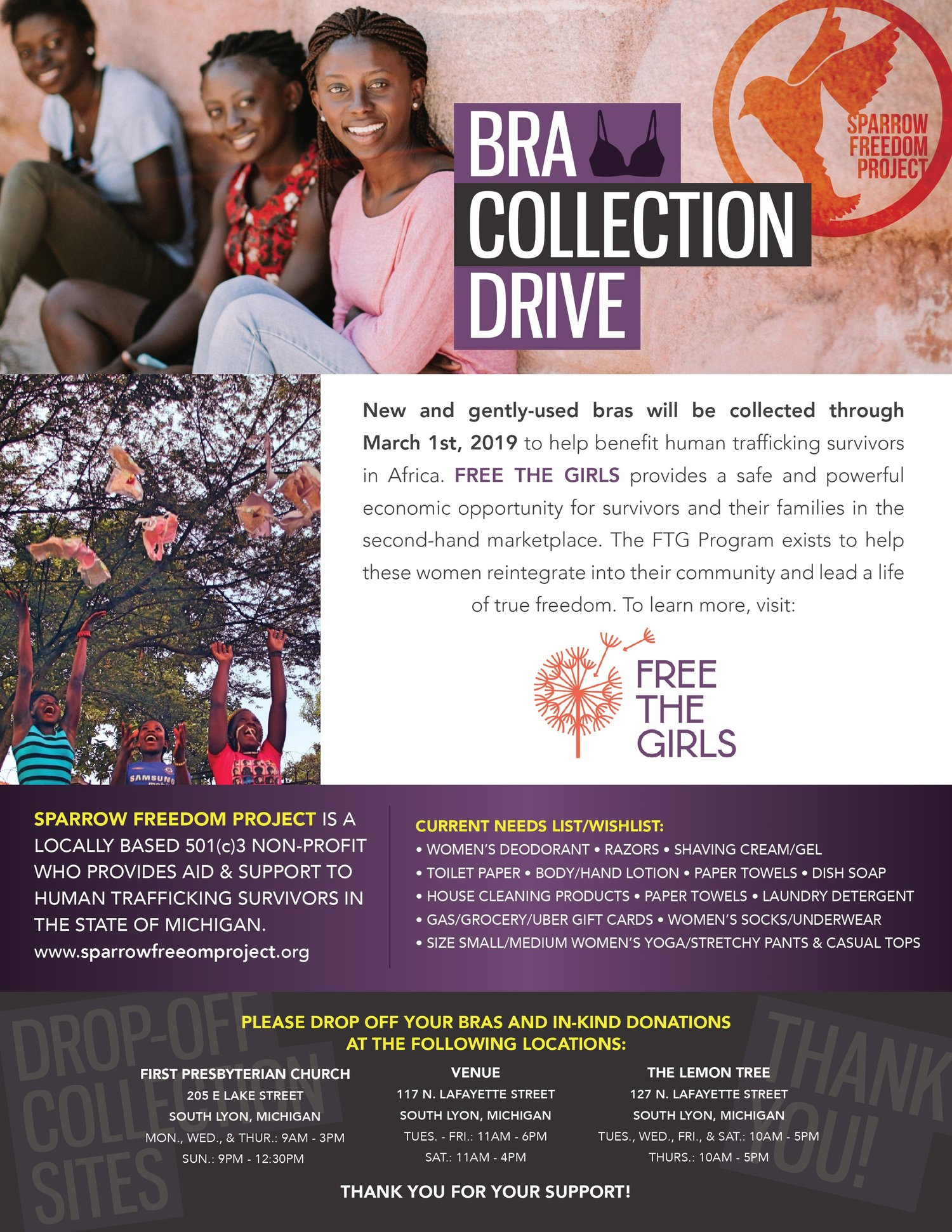 Help support The Sparrow Freedom Project/Save the girls with