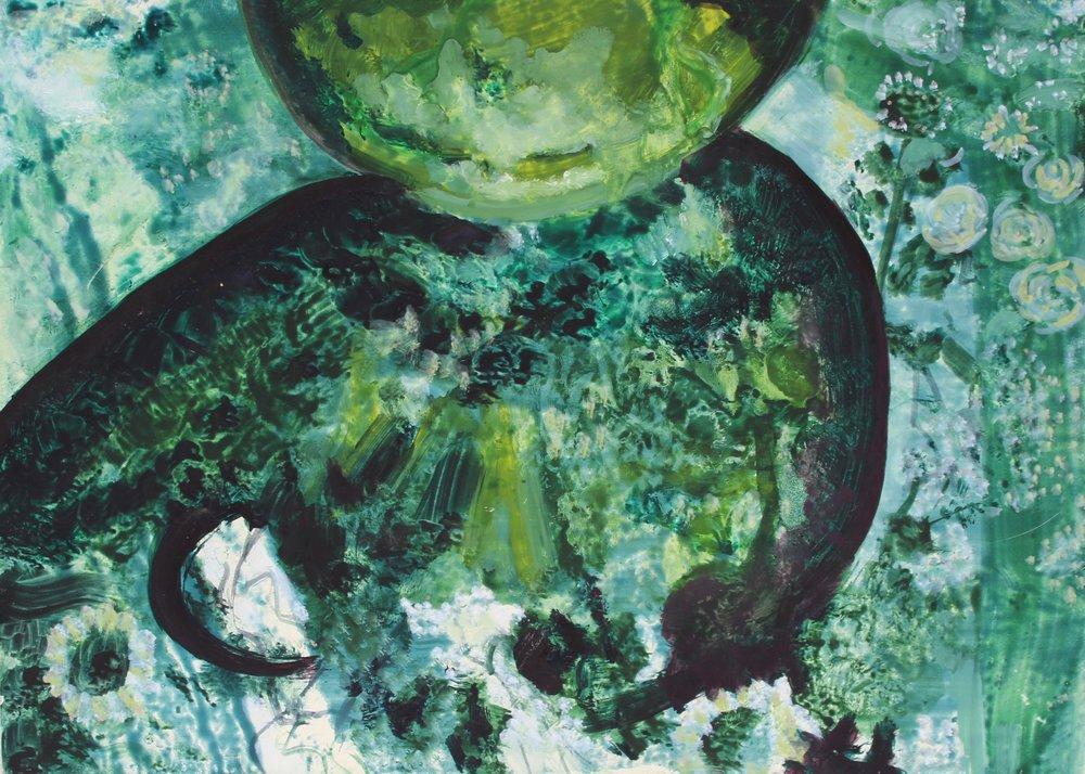 Green Vase 18x13cm £40.00 (Sold)