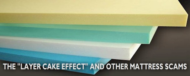 "The ""Layer Cake Effect"" is one of many common scams in the mattress industry"
