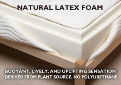 "The bouncy, lively, uplifting, and buoyant sensation of latex provides a great sleep surface if you are a restless sleeper and are a tad claustrophobic on a mattress. The only foam component that is an all natural material (unless it's synthetic rubber, called ""butadiene rubber"") it has amazing antibacterial, anti-dust mite, mold, and mildew qualities."