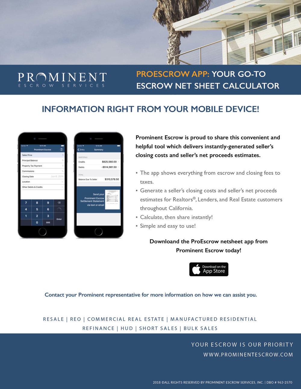 ProEscrow Mobile App