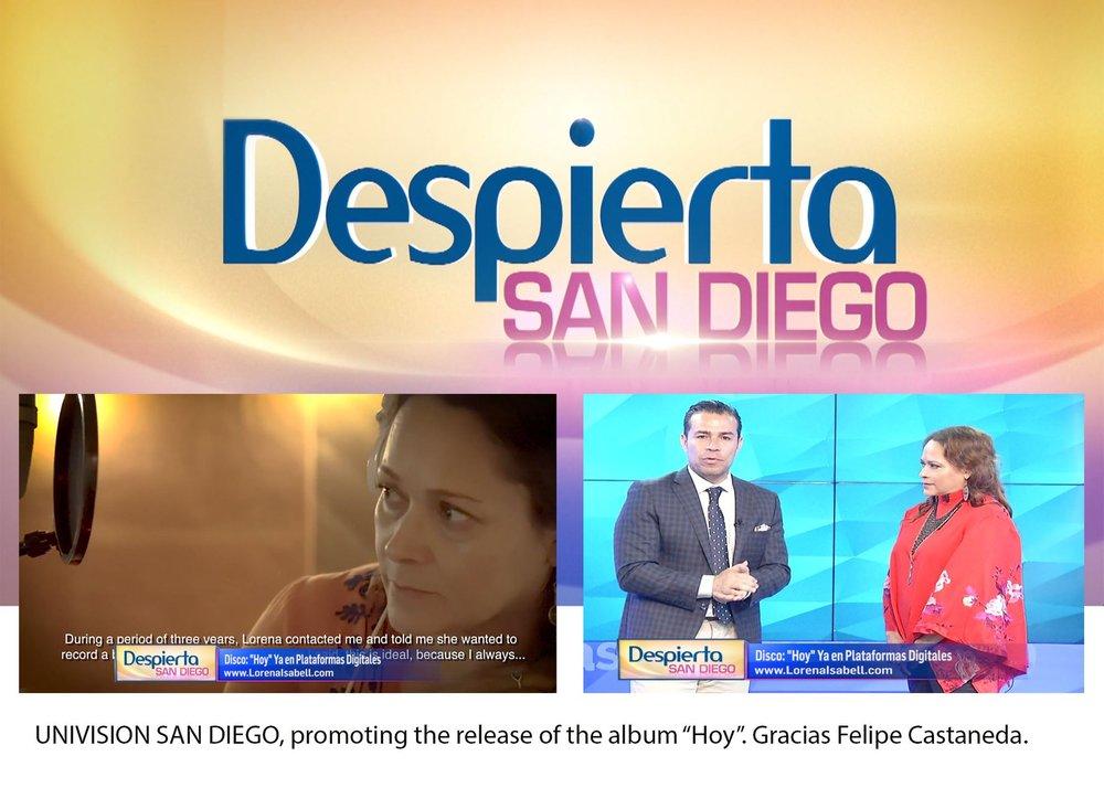 UNIVISION INTERVIEW - Images of the interview Despierta San Diego. Gracias Felipe Castaneda!