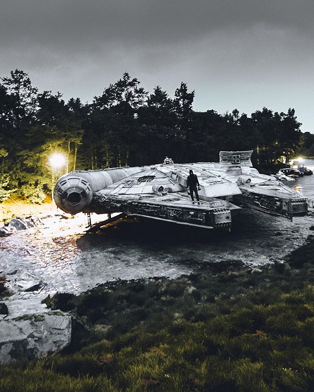 Other worlds. W/ @night.scape & @marcuspaulwilson  Star Wars  VIII came out last week so here's a throwback to when we had a sneak around the set a while ago.