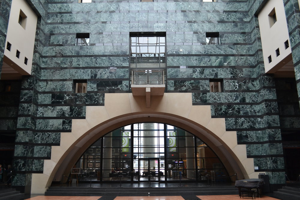 MISSISSAUGA CIVIC CENTER - Lobby stone