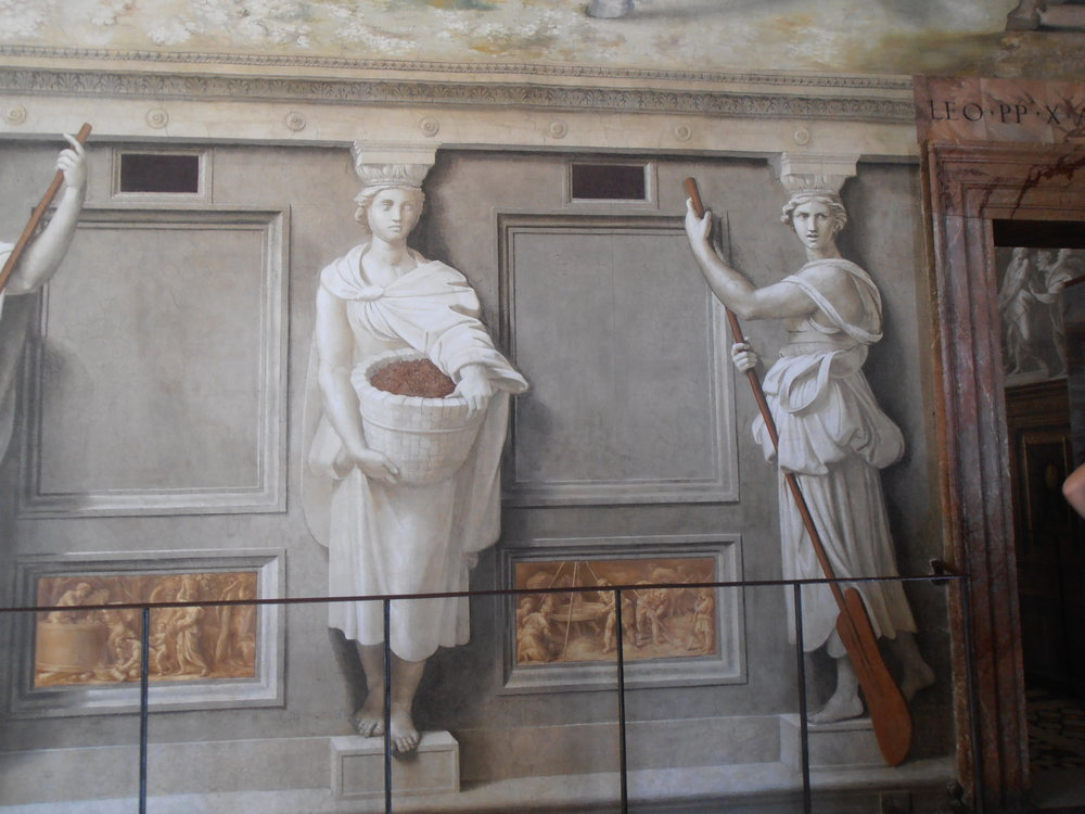 Painting inside the Vatican Museums