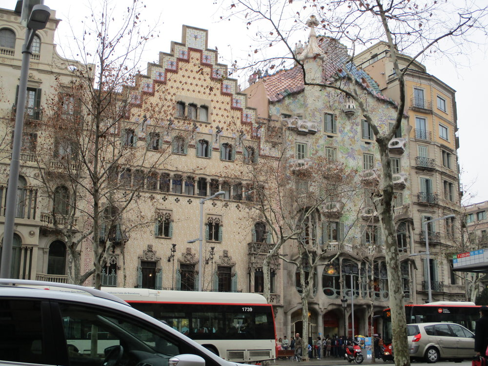 Gaudi-designed buildings