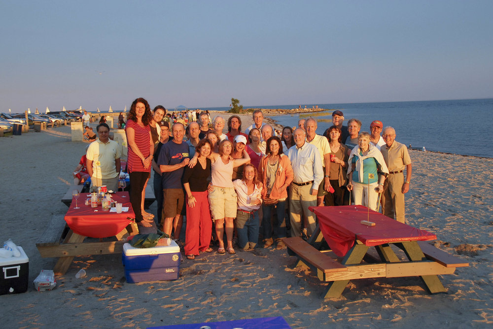 Celebrating the Sunset at Our Annual Dinner and Clambake