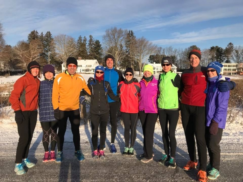 Pequot Runners Braving the Cold Before a Run