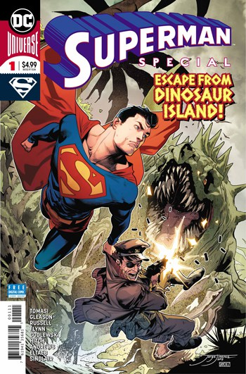 Peter Tomasi and Patrick Gleason say goodbye to The Man of Steel in  Superman Special #1  this week. The oversized special also features a backup by Mark Russell and Bryan Hitch and another by Ian Flynn and Caare Andrews.