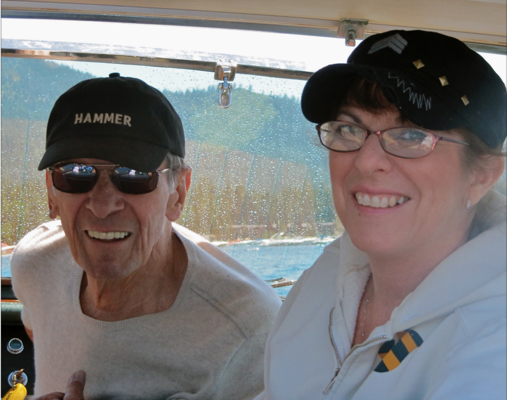 LEONARD AND JULIE NIMOY AT LAKE TAHOE, COURTESY OF JULIE NIMOY