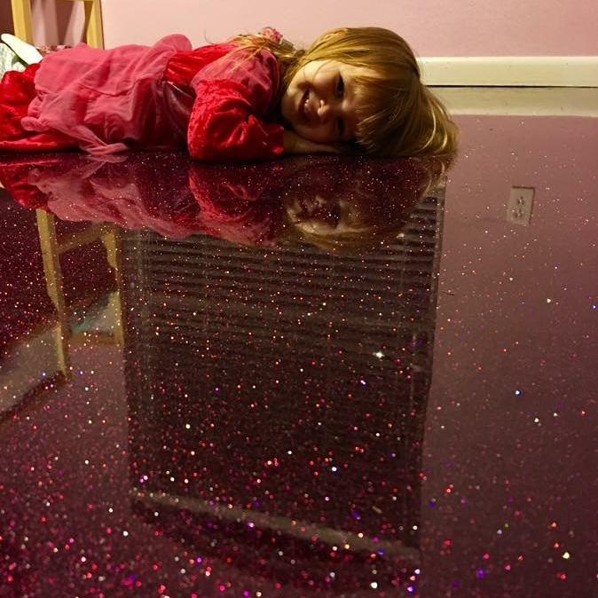 Yes, it's glitter!