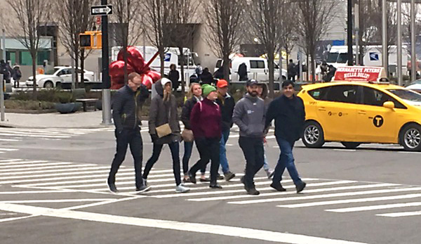 SOZO team and members from CU Church exploring New York City.