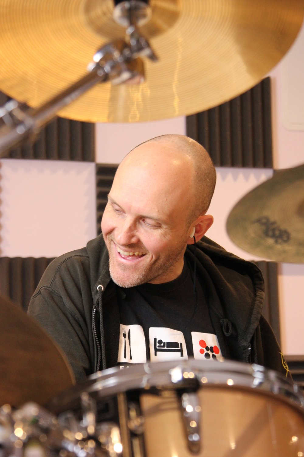 Mike Cairns - The Boss, Drummer, Tutor, Sound Technician and Chief Chocolate Taster
