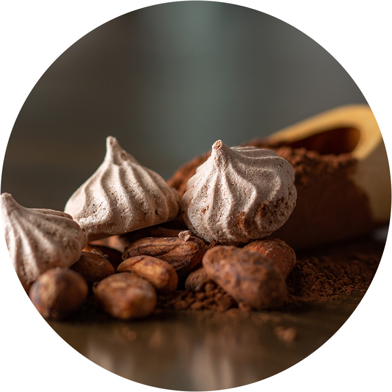 Cocoa - Our Cocoa uses unsweetened alkalized organic cocoa powder (Dutch Processed). It is Fair Trade, ethically sourced from 100% cacao chocolate liquor from the Equatorial Rainforest. It has a rich dark chocolate fudge flavor.