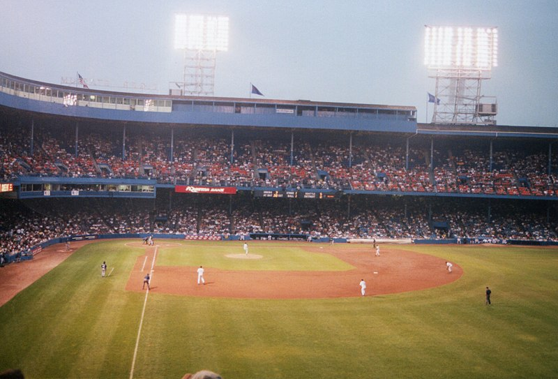The Men's Glee Club performing the National Anthem at the 1984 World Series.