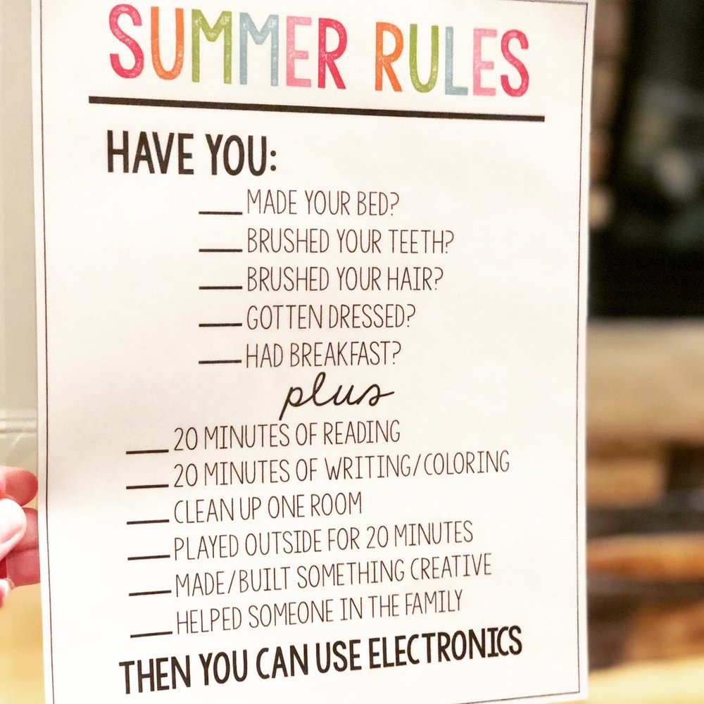 stef summer rules.JPG