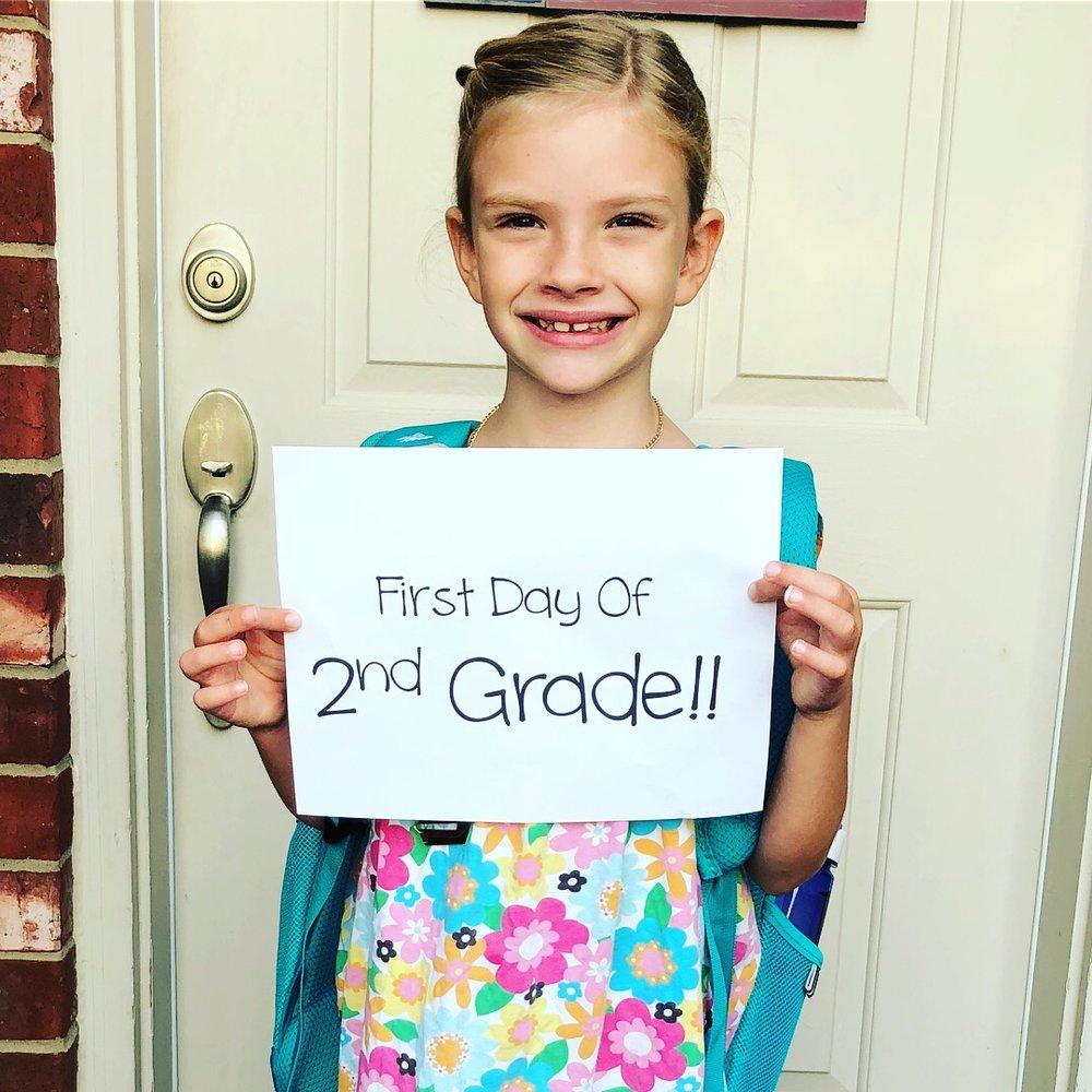 first day of school hallie.JPG
