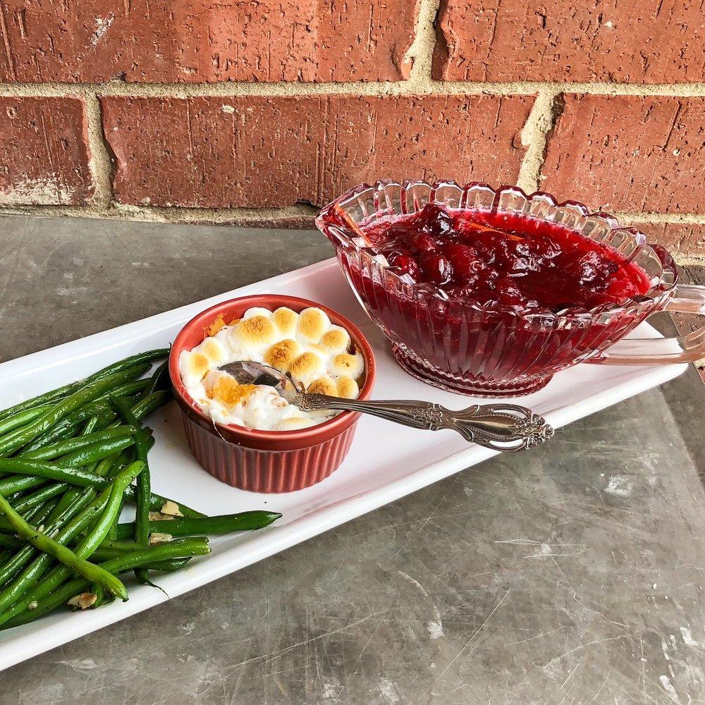 sweet potatoes, green beans, cranberry sauce 1.JPG