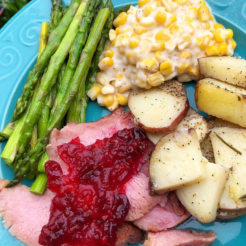 christmas dinner plate of food.JPG