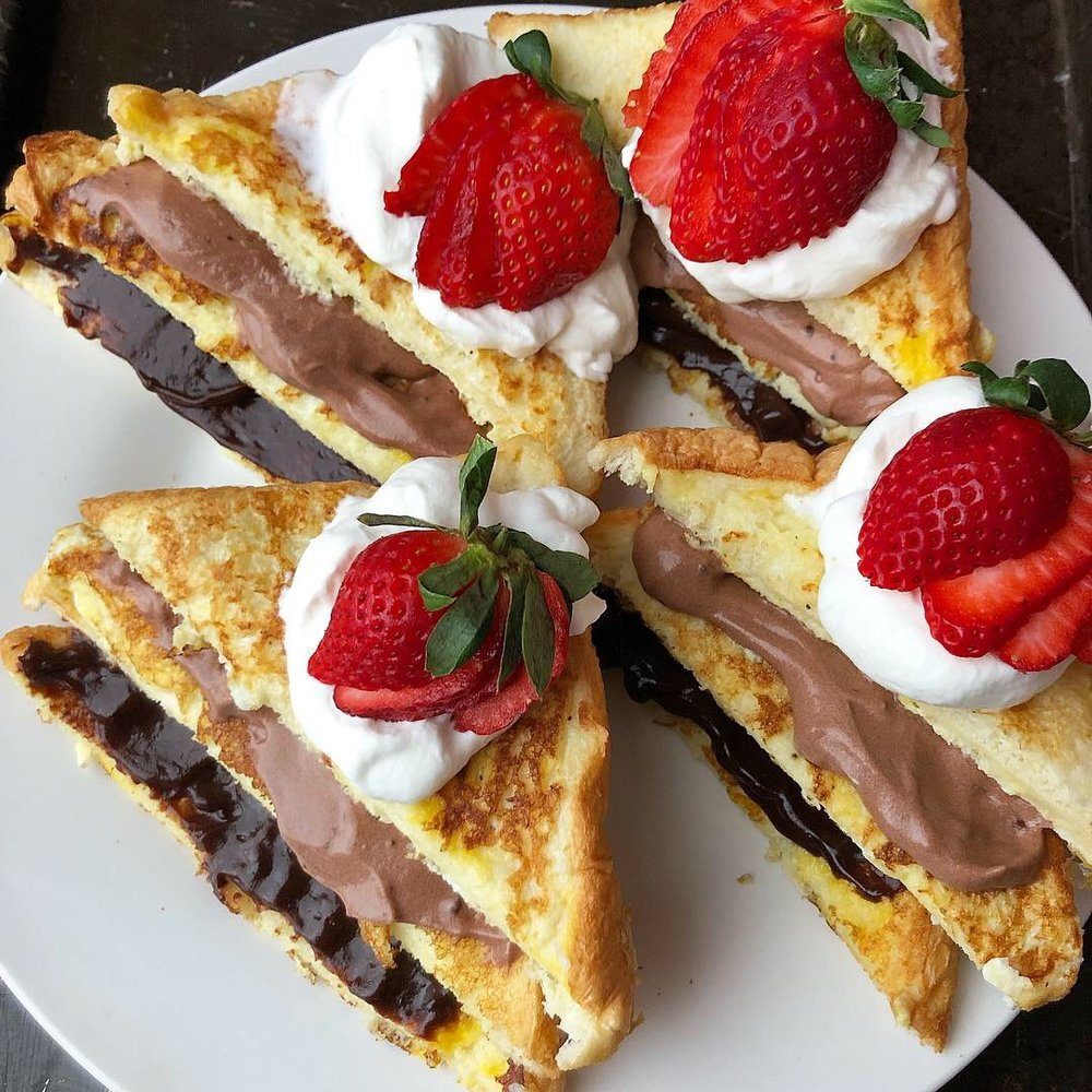 triple decker french toast with choc and strawb 5.JPG