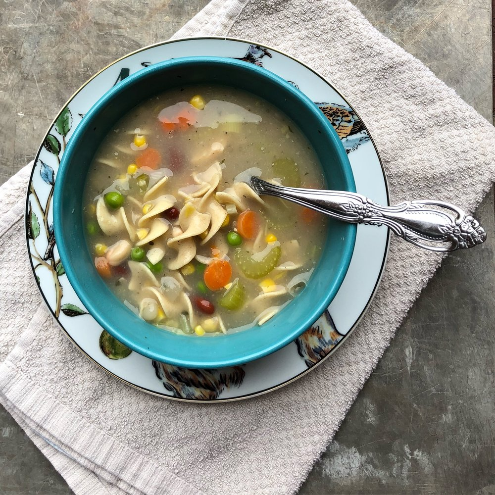 Click  here for our Chicken Noodle Soup  Recipe