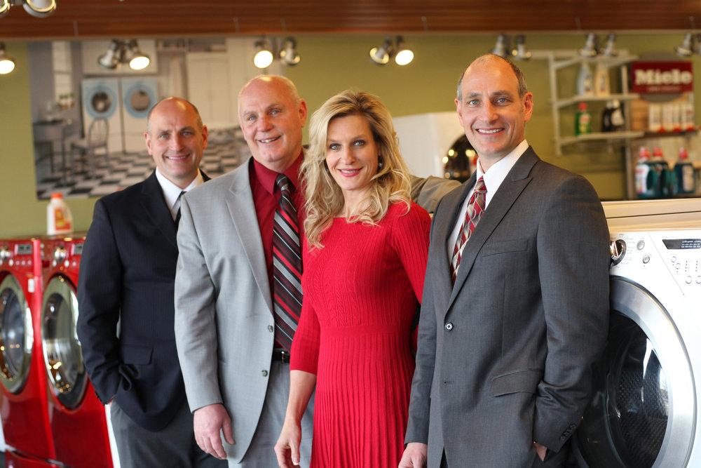Left to right:  Bill Warner, Jeff Warner, Carla Warner, Bob Warner