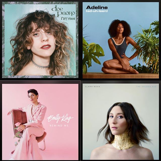 4 amazing women put out super rad new music out this month.  Check it out! Let me know of other new music that I should know about.