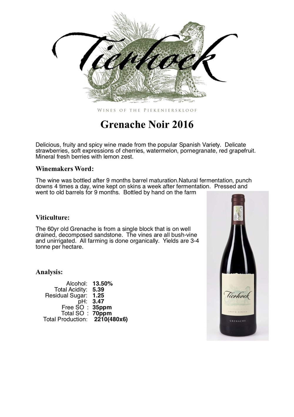 Winemaker Notes -