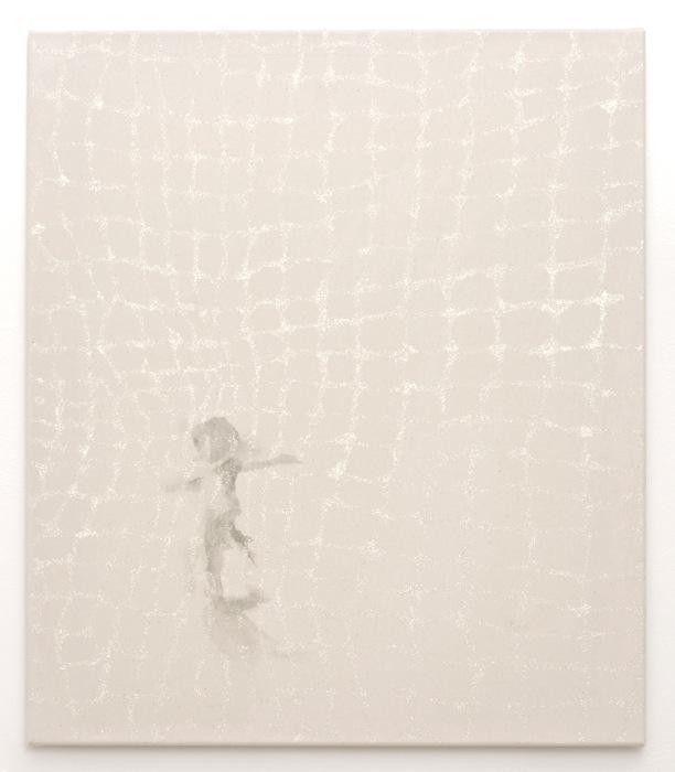 distant silence - dance   acrylic, glitter on canvas   70 x 60  2011