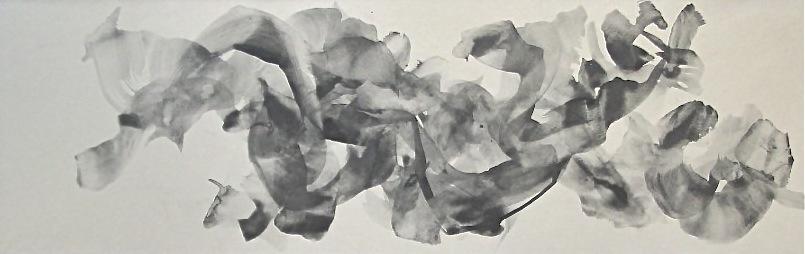 semitone (a)   graphite,  nikawa  on Japanese paper ( Torinoko-shi)  2003